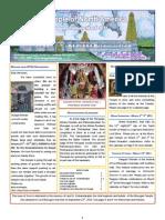 Murugan Temple Newsletter - January, February, March 2011