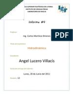 Informe 4-Hidrodinámica