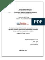 PLAN DE PRODUCCION (TEXTILES LOS ANDES C.A)