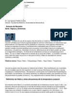 Fiebre Fisiopatologia Patrones y Tratamiento