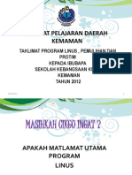 Taklimat Saringan Untuk Guru Penolong Kanan Sekolah-Sekolah Daerah Kemaman 2011
