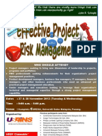 Effective Project Risk Management November 2012