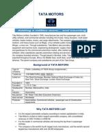 Tata Motors Analysis