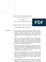 Law no.22 year 2009 on Road Traffic (Bahasa Indonesia)