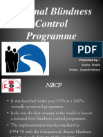 National Blindness Control Programme