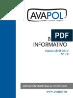 Boletín nº 10 (Enero-Abril 2012)