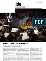 """""""Battle of the Batons"""" - NZ orchestra funding. Metro, May 2012"""