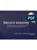 record keeping