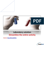 Streamline the entire laboratory activity management