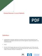 Global Brands & Local Markets