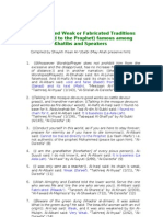 One Hundred Weak or Fabricated Traditions Attributed to the Prophet