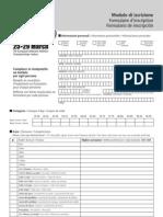 Formula Ire Inscription EVACI2009