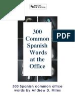 300 Vocablos de Oficina Spanish to English