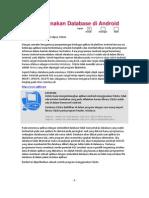 Menggunakan Database Di Android