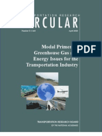 Modal Primer on Greenhouse Gas and Energy Issues for Transportation