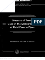 ASME Mfc-1m (Glossary of Terms Fluid Flow in a Pipe) )