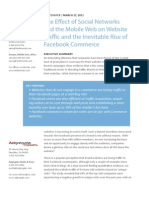 The Effect of Social Networks and the Mobile Web on Website Traffic and the Inevitable Rise of Facebook Commerce