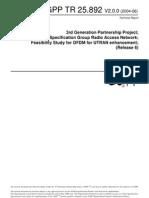 3GPP TR25.892 Feasibility Study for OFDM for UTRAN 2003