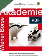 Alternative Portfoliomanagement 2012-13 Vienna