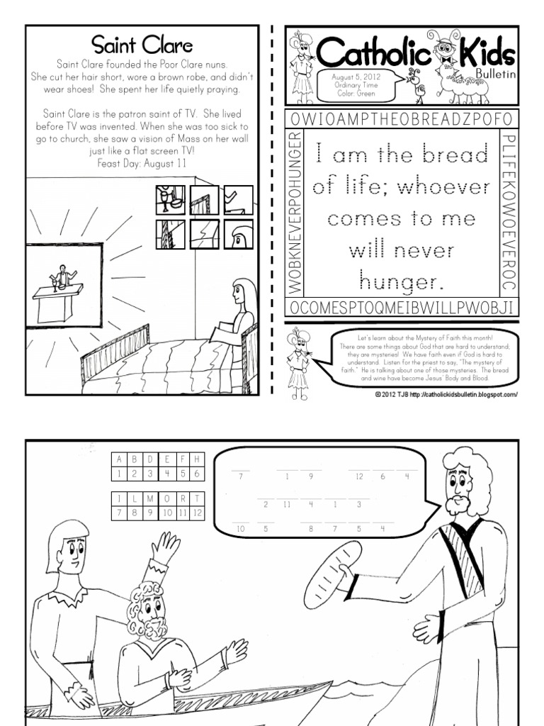 August 2012 Catholic Kids Bulletin