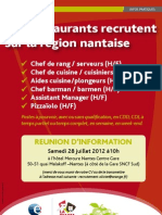 Affiche Recrutements Restaurants Nantes