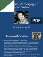 The Unique Jazz Pedagogy of Dennis Sandole