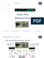 Single Plane Balance 091401