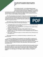 Testimony of Brendan Woodruff NYPIRG at Hydrofracking Public Forum (7/18/12)