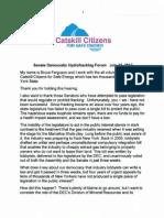 Testimony of Bruce Ferguson at Hydrofracking Public Forum (7/18/12)