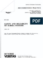 DNV-RP-O401 Safety and Reliability of Subsea Systems April 1985