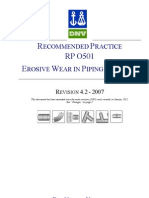 DNV-RP-O501 Erosive Wear in Piping Systems