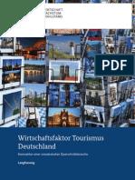 Studie Wirtschaftsfaktor Tourismus - Langfassung