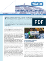 Banning the Bottle on Campus
