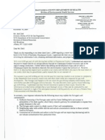 Hydrofracking Forum Documents from Josh Fox, Gasland - Letter From Chautauqua County Health Department to DEC