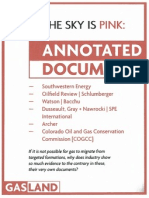 Hydrofracking Forum Documents from Josh Fox, Gasland - Sky is Pink Annotated Documents