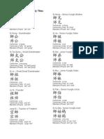 Kungfu Family Titles