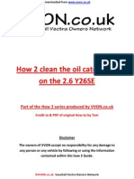 How to Clean Oil Catch Tank Y26SE