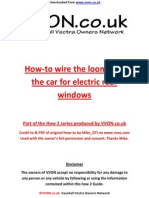 How to Fit Loom for Rear Electric Windows