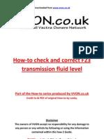 How to Refill f23 Transfluid