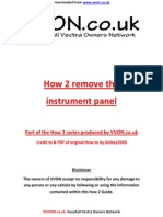 How to Remove Instrument Panel