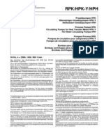 KSB - RPK Process Pumps - Charachteristic Curves