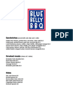 Blue Belly Opening Menu