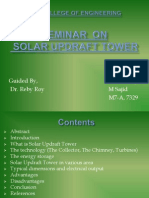 Seminar ppt on solar updraft tower