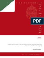 Analisis y evaluación de la distribución Interreiogional y cambio de ley del FNDR Tesis PUC Franken 2005