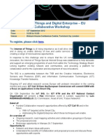 IoT EU funding event, 12th September