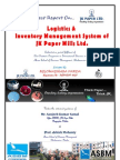 Best ever JK Paper Project Report by  Nilomadhaba Panda ( International Business, ASBM)