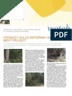 November 2009 Watershed Watch