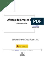Boletin Semanal Empleo Publico. Semana Del 17.07.2012 Al 23.07