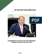 Balance de Gestión Parlamentaria 2011-2012