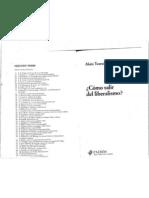 Touraine Alain 1999 Como Salir Del Liberalismo